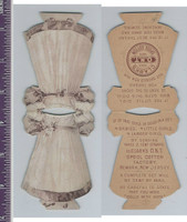 Victorian Card, 1890's, Clarks Thread, Doll Cutout, Two Sided Dress