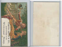 Victorian Card, 1890's, Curtis Davis Soap, Playing Music