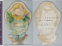 Victorian Card, 1890's, Fabb & Magasin, Rose & Landscape