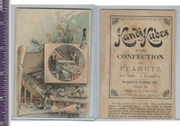 Victorian Card, 1890's, Kandi Kubes Confection, Men Working
