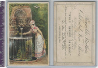 Victorian Card, 1890's, Reynolds Brothers, Utica NY, Woman, At The Well