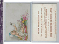 Victorian Card, 1890's, Summit City Soap, Child & Flowers