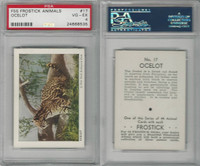 F55 Frostick, Animal Cards, 1933, #17 Ocelot, PSA 4 VGEX