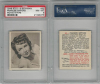 1948 Bowman, Movie Stars, #32 Frances Gifford, PSA 8 NMMT