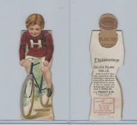 Victorian, 1890's, Prescott Enameline College Color Dolls, Harvard, Bike