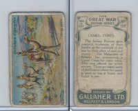 G12-19 Gallaher, The Great War, 1915, #152 Camel Corps