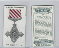 P72-140 Player, War Decorations & Medals, 1927, #13 Air Force Cross