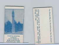 V Card, Rhodes Mfg, Scenes, 1940's, Purple Marten Castle, Kingsville