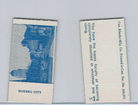 V Card, Rhodes Mfg, Scenes, 1940's, Quebec City, Canada
