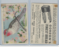 D39-2b, Gordon Bread, California Birds, 1940's, House Finch