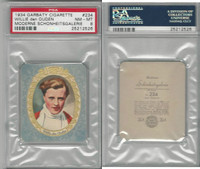 G14-15 Garbaty, Modern Beauty, 1934, #234 Willie den Ouden, PSA 8 NMMT