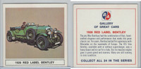UO63 BA Oil, Gallery of Great Cars, 1967, Red Label Bentley