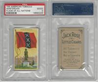T59 American Tobacco, Flags of all Nations, 1910, Amsterdam, PSA 2 Good