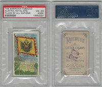 T59 American Tobacco, Flags of all Nations, 1910, Austria Royal, PSA 4 MK VGEX
