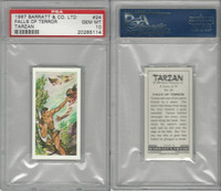 B0-0 Barratt, Tarzan, 1967, #24 Falls of Terror, PSA 10 Gem