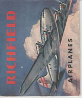 UO2, Richfield Gas, Airplanes Series B, 1941, Album Used With 7 Cards
