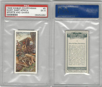 C82-81 Churchman, Sports & Games, 1929, #5 Hunt, East Africa, PSA 5 EX