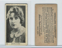 T85-1 Tobacco Products Corp, Movie Stars, 1922, #54 Alice Lake