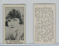 T85-3 Tobacco Products, Strollers, Movie Stars, 1922, #106 May Allison