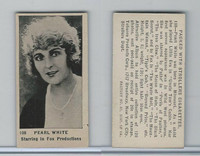 T85-3 Tobacco Products, Strollers, Movie Stars, 1922, #108 Pearl White