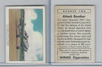 T87 Wings Cigarettes, Series (No Letter Series), 1941,#2 US Army Bomber