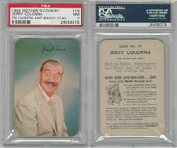 D77 Mother's Cookies, Television & Radio Stars, 1953, #19 Jerry Colonna, PSA 7