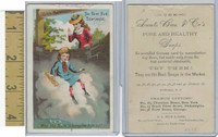 Victorian Card, 1890's, Acme Soap, Why, The Foam Is Bringing Him Up