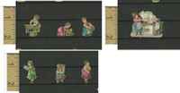 Victorian Diecuts, 1890's, Culture & People, (24) Lot of 7 Women Housework