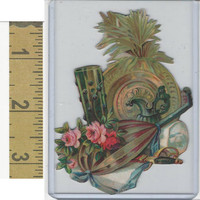 Victorian Diecuts, 1890's, Culture & People, (29) Flowers, Pitcher, Cutout