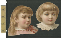 Victorian Diecuts, 1890's, Girls, Two Cutouts (16)