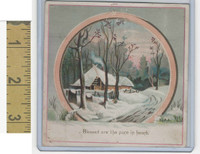 Victorian Diecuts & Cards, 1890's, Landscapes, Winter House, Blessed Are (3)