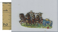 Victorian Diecuts, 1890's, Soldiers, (101) Horses Cannon