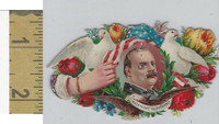 Victorian Diecuts, 1890's, US History, (9) President Cleveland, Flowers