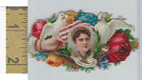 Victorian Diecuts, 1890's, US History, (10) Mrs. Cleveland, Flowers