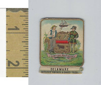 Victorian Diecuts, 1890's, US History, State Seals, Delaware