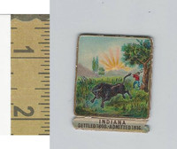 Victorian Diecuts, 1890's, US History, State Seals, Indiana