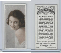 C9 Imperial Tobacco, Famous English Actresses, 1924, #17 Kathleen Oldham