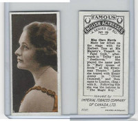 C9 Imperial Tobacco, Famous English Actresses, 1924, #19 Clare Harris