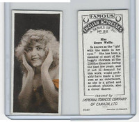 C9 Imperial Tobacco, Famous English Actresses, 1924, #22 Genee Wallis