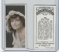 C9 Imperial Tobacco, Famous English Actresses, 1924, #23 Genee Wallis