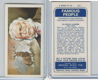 B0-0 Brooke Bond Tea, Famous People, 1967, #2 Sir Edwin Landseer