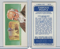 B0-0 Brooke Bond Tea, Famous People, 1967, #18 George Bernard Shaw