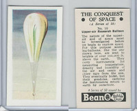 B0-0 Beano, Conquest Of Space, 1956, #10 Upper Air Research Balloon