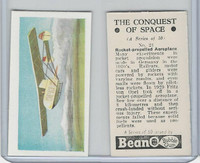B0-0 Beano, Conquest Of Space, 1956, #21 Rocket-Propelled Aeroplane