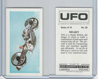 B0-0 Bassett, UFO, 1974 Space Cards, #29 Helijet