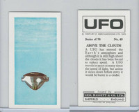 B0-0 Bassett, UFO, 1974 Space Cards, #49 Above The Clouds