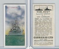 C18-62 Carreras, Our Navy, 1937, #2 HMS Cumberland