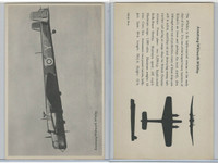 WC 1940's Official Photo Card, WW II Airplanes (4.5X7 in), Armstrong-Whitworth