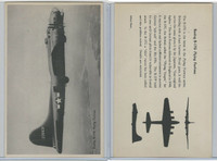 WC 1940's Official Photo Card, WW II Airplanes (4.5X7 in), Boeing B17G Flying