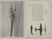 WC 1940's Official Photo Card, WW II Airplanes (4.5X7 in), Martin B-10